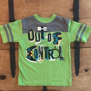 Faded Glory Boys Size 5 Green Gamer Graphic Tee
